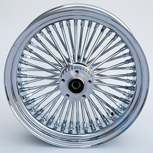 Ultima King Spoke Chrome Front Single Disc Wheel 16x3.5 for 2000-06 Harley Models (37-527)
