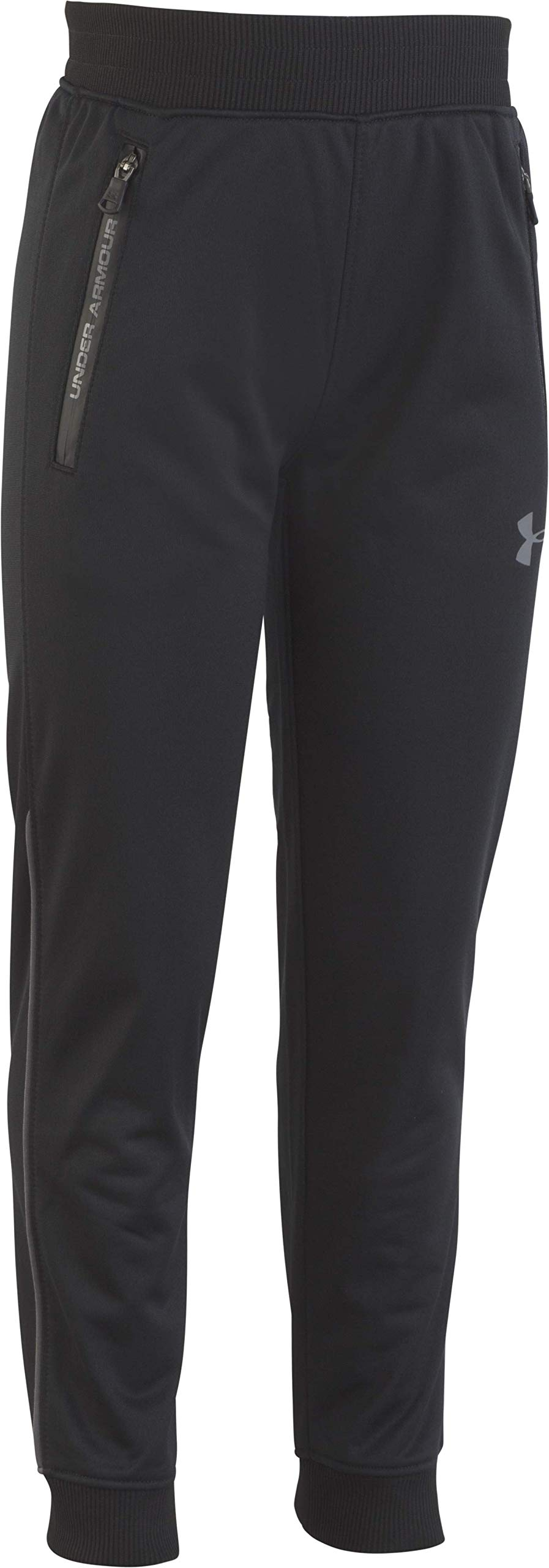 Under Armour Boys' Little Pennant Tapered Pant, Black, 7 by Under Armour