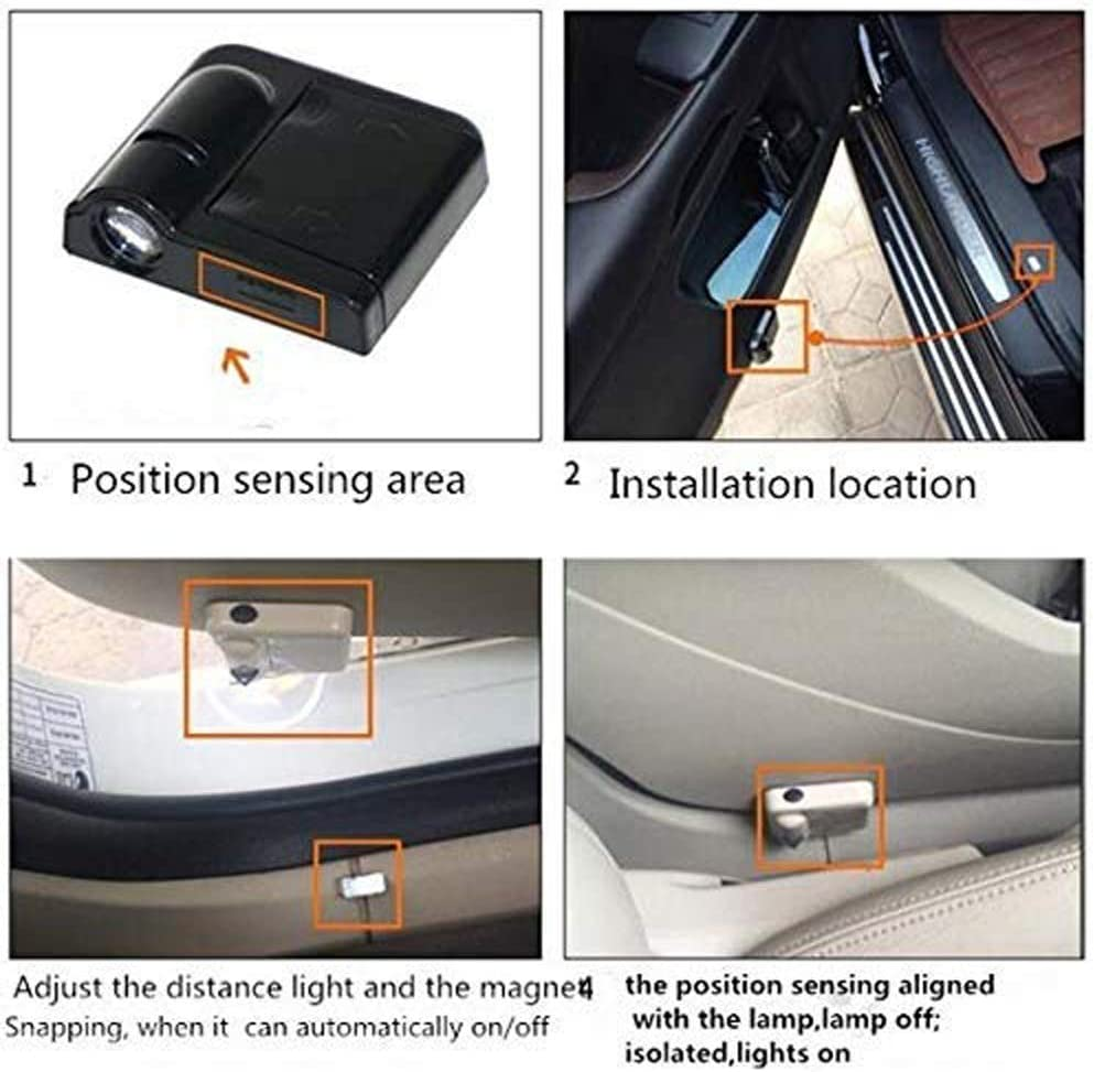 For Fit Cleveland Browns Car Door Led Welcome Laser Projector Car Door Courtesy Light Suitable Fit for all brands of cars Fit Cleveland Browns