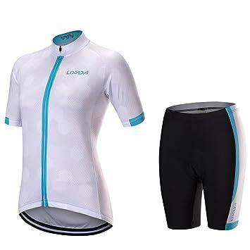 f1c262231 Lixada Women s Short Sleeve Cycling Jersey Shirt Quick Dry Breathable  Mountain Clothing Bike Top + Comfortable