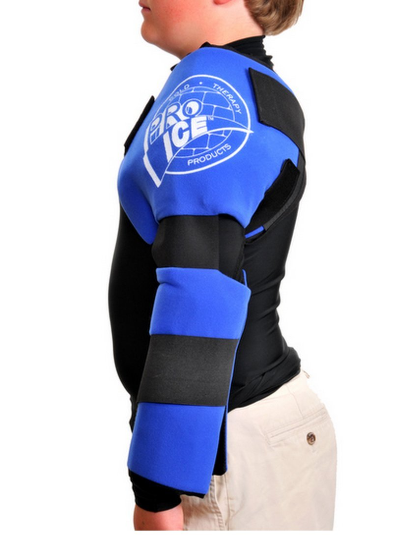 Pro Ice Youth Shoulder/Elbow Ice Therapy Wrap - Excellent for Treating Rotator Cuff Injuries, Elbow Joint and Muscle Inflammation - Ice Packs Included