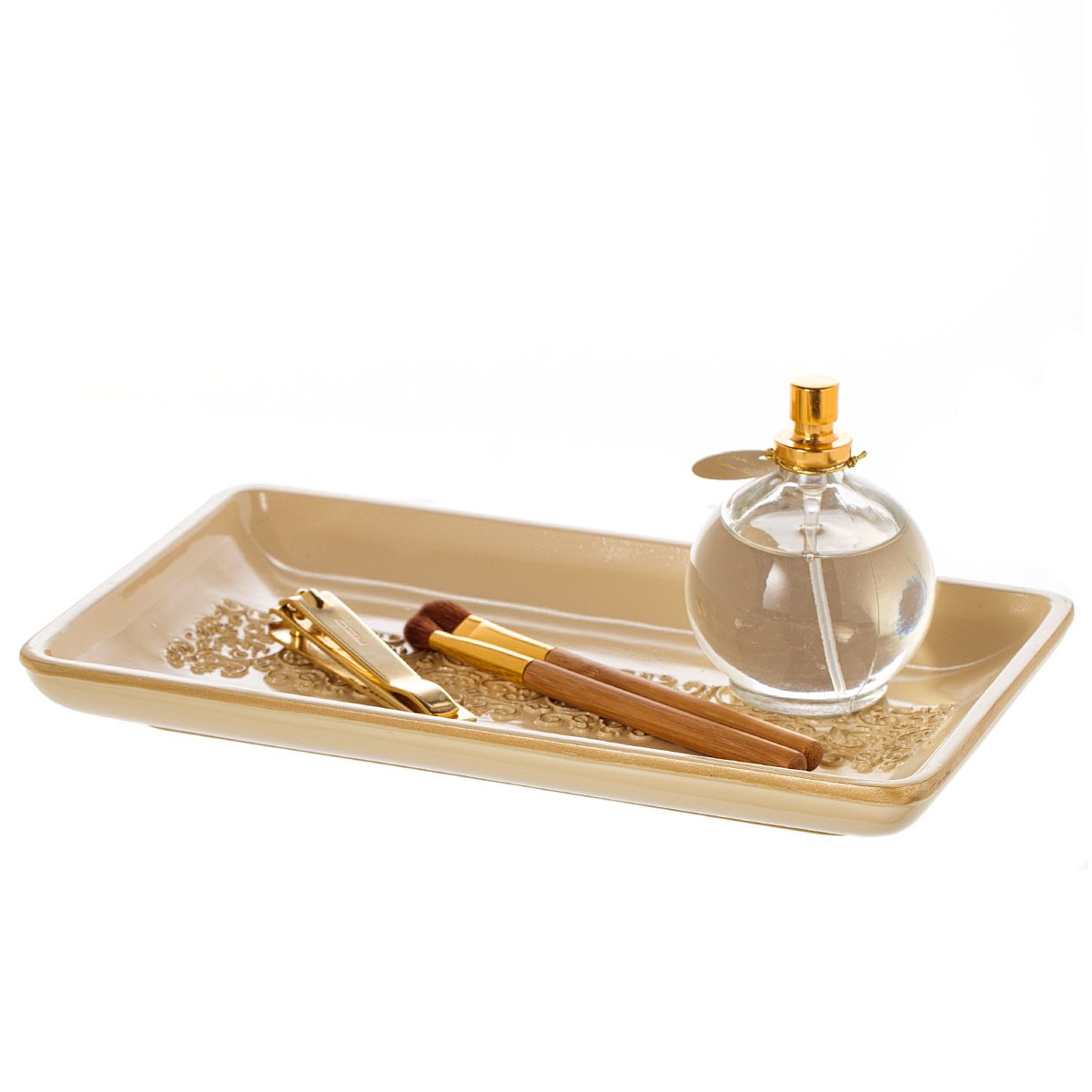 Amazon.com: Shannon Vanity Tray for Dresser, Decorative Cosmetics ...