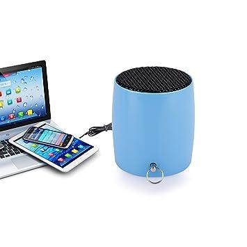aimodi® Altavoz Portátil Wireless Mini Estimada exterior altavoz Bluetooth (2 W USB MP3 negro) y potentes cristalina Echo Muro para el hogar cines Teléfono ...