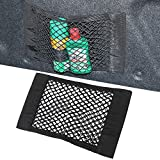 Trunk Storage Net, [2 PACK] Car Storage Net - Bottles, Groceries, Storage Add On Organizers for Car Truck/ Trunk