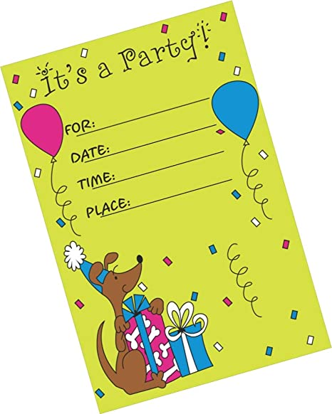 Partystuff Party Theme Cards Party Invitation Card