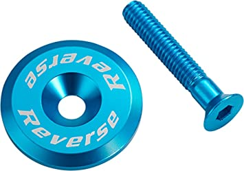 hell blau Reverse 4er Set Kettenblattschrauben SET Aluminium