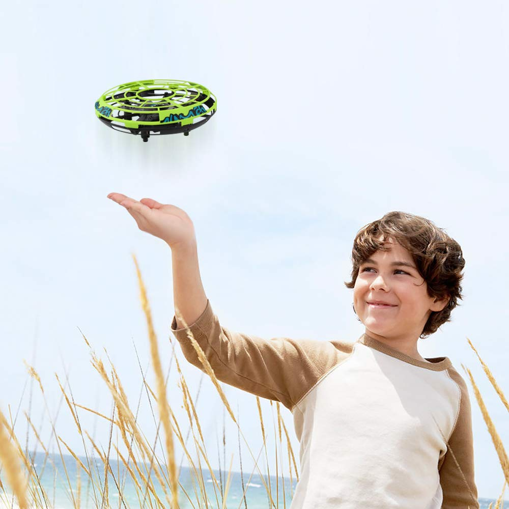 Baztoy Flying Ball RC UFO Drone Flying Saucer Toys Hand Controlled Mini Drone Remote Control Fly Toy New Birthday Gifts with Cool LED Light Indoor Outdoor for Kids, Adults, Girls and Boys by Baztoy (Image #2)
