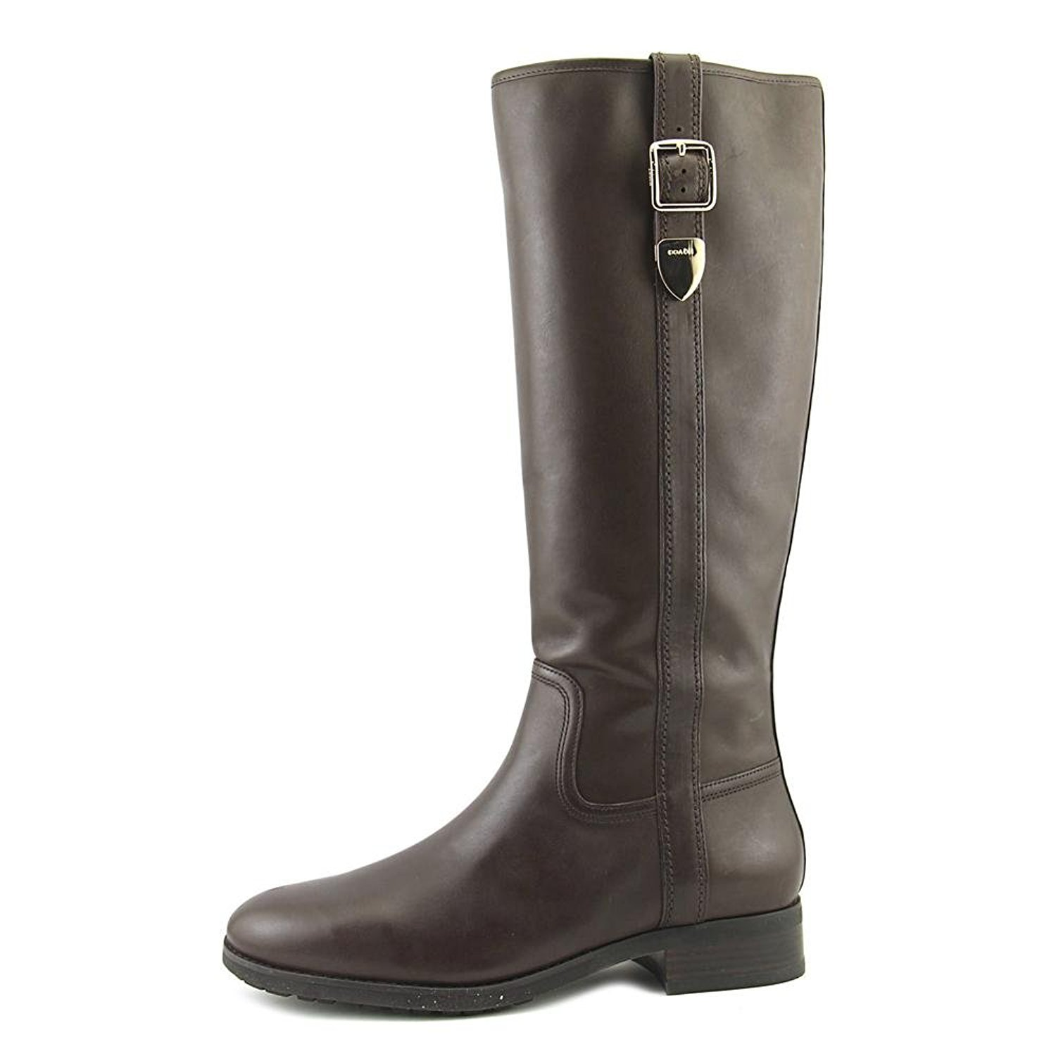 Coach Womens Easton Closed Toe Knee High Fashion Boots, Brown, Size 9.5