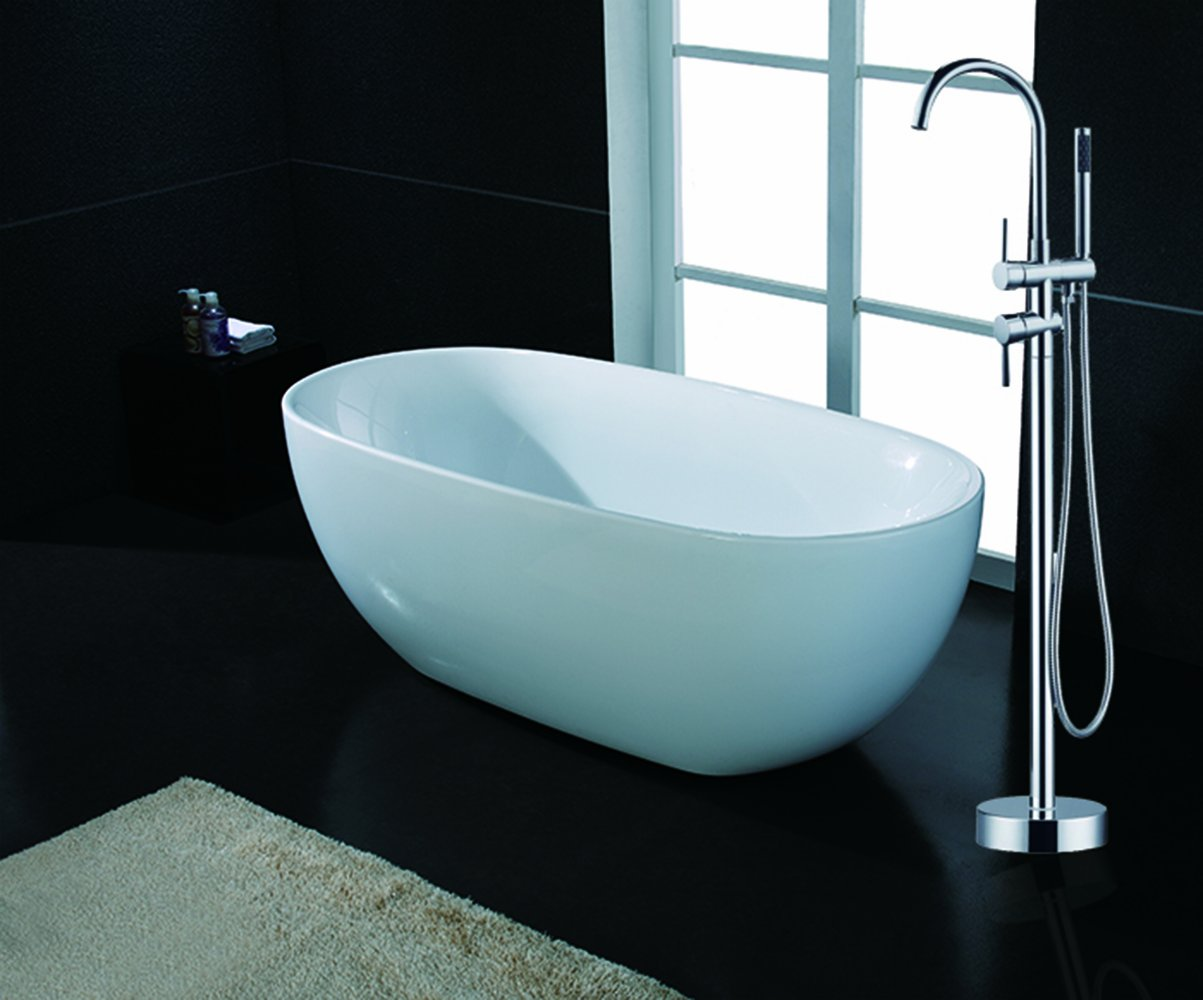 AKDY F277+8723 Bathroom Combo, White Color Acrylic Freestanding Bathtub  AZ F277 With Tub Filler     Amazon.com
