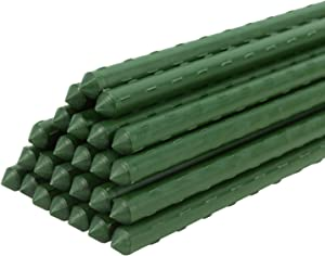 ACTREY Garden Stakes 60 inch 5ft Sturdy Tomato Sticks Plant Stakes, Pack of 25