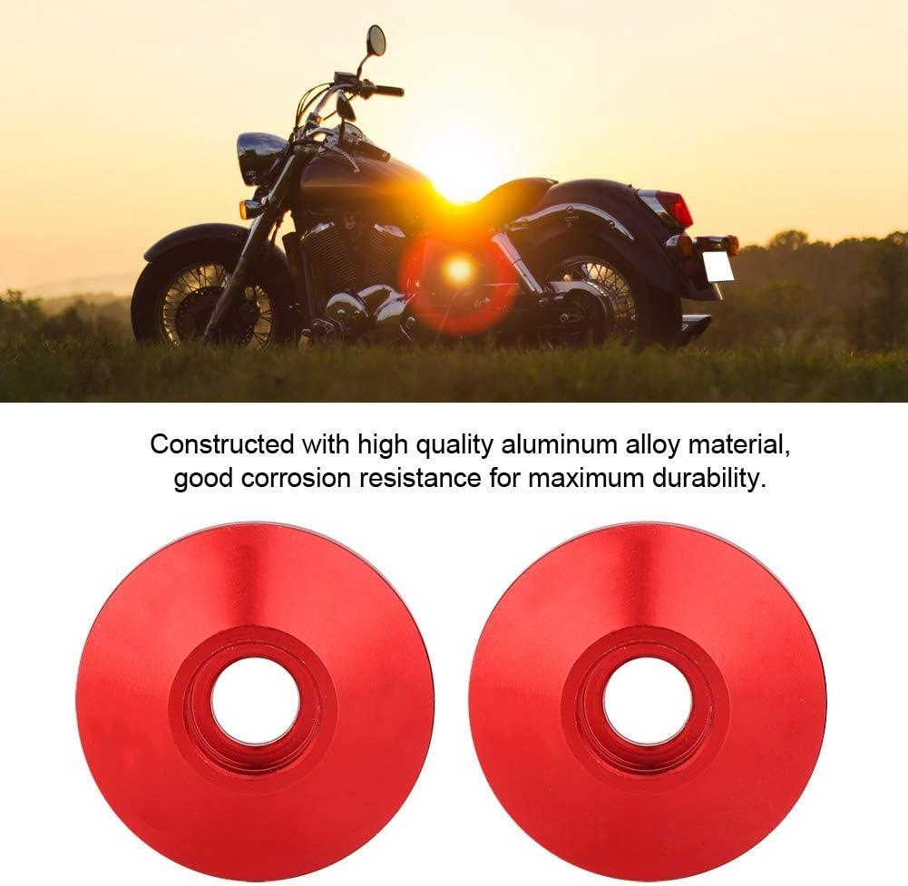 Qii lu 1 Paire Embout de guidon Universelle CNC Alliage Daluminium Moto Guidon Bar Embout rouge