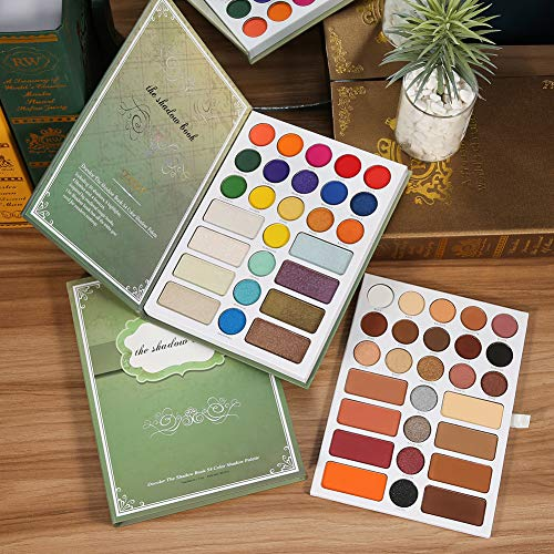 Docolor Eyeshadow Palette 54 Colors Book Shadow Palette Matte Glitter Highly Pigmented Shimmer Natural Nude Naked Smokey…