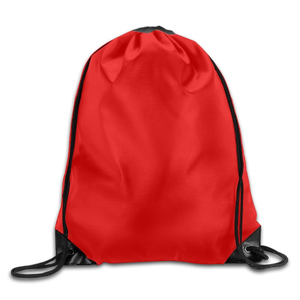 VIMUCIS Red Drawstring Backpack Rucksack Shoulder Bags Training Gym Sack For Man And Women