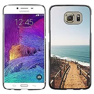 Caucho caso de Shell duro de la cubierta de accesorios de protección BY RAYDREAMMM - Samsung Galaxy S6 SM-G920 - California Sun Ocean