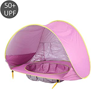 whhuwai Baby Beach Tent Wateroof Pop Up Portable Shade Pool UV Protection Sun Shelter for Outdoor Camping Sunshade