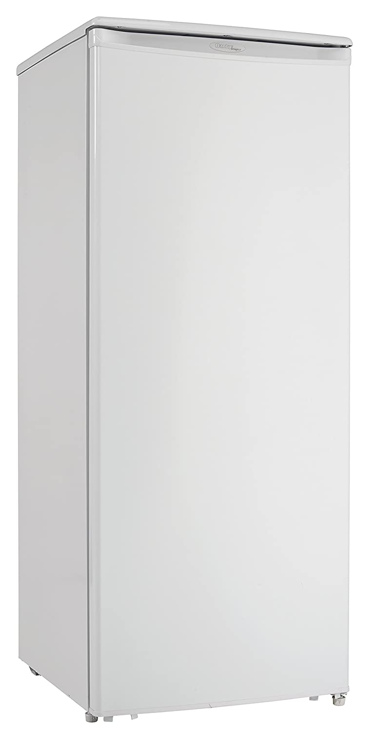 Danby DUFM101A1WDD1 Freezer with 10.1 cu. ft. Capacity, Energy Star Compliant, Manual Defrost with Drip Tray, Reversible Door Hinge, Scratch Resistant Worktop, in White