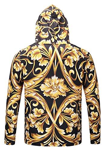 Pizoff capuche shirt numérique unisexe colorée impression une de à Sweat de hip hop sweat avec 03 Aa002 3d zwX5OnnEq