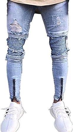 Targogo 2018 Moda Molde Delgado Para Hombre Pantalones Slim Fit De Mezclilla Personalizables Pequenos Pantalones De Mezclilla Elasticos Pantalones Casuales Pantalones Vaqueros Amazon Es Ropa Y Accesorios