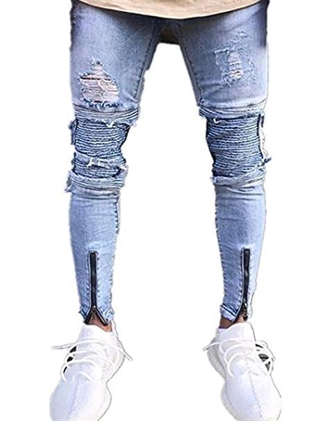 distribuidor mayorista 78416 1636a Targogo 2018 Moda Molde Delgado para Hombre Pantalones Slim ...
