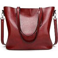 a3ea987b9c82 Nodykka Women Tote Bags Top Handle Satchel Handbags PU Pebbled Leather  Tassel Shoulder Purse