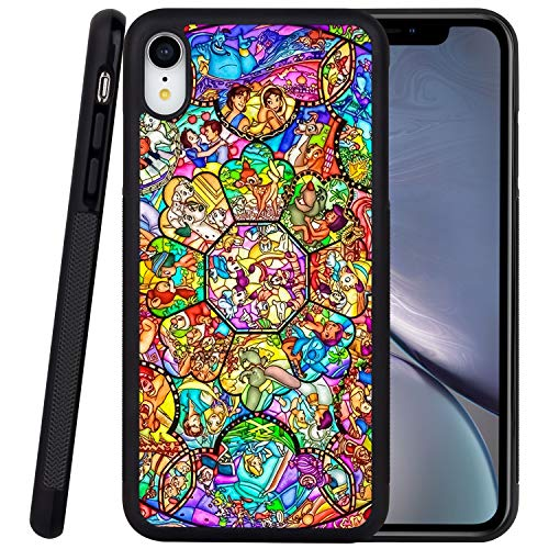 DISNEY COLLECTION Phone Case Compatible iPhone XR Case Disney Family Reinforced Drop Protection Hard PC Back Flexible TPU Bumper Protective Case for iPhone XR 6.1 Inch