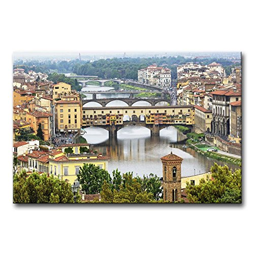 So Crazy Art Wall Art Painting Arno River With Many Bridge In Florence Pictures Prints On Canvas City The Picture Decor Oil For Home Modern Decoration Print For (Florence Photo Gallery)