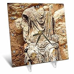 3dRose Danita Delimont - Statues - Statue of Marcus Aurelius, Dougga Archaeological Site, Tunisia, Africa - 6x6 Desk Clock (dc_276622_1)