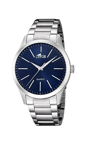 9de160921db7 Lotus Watches Reloj Análogo clásico para Hombre de Cuarzo con Correa en  Acero Inoxidable 15959 7  Amazon.es  Relojes