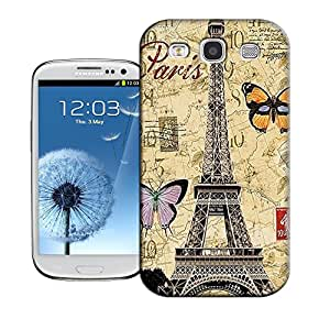 Hot Sale! By Zou's Design Beautiful Design Butterfly Eiffel TPU Hard Case Cover for Samsung Galaxy S3 I9300