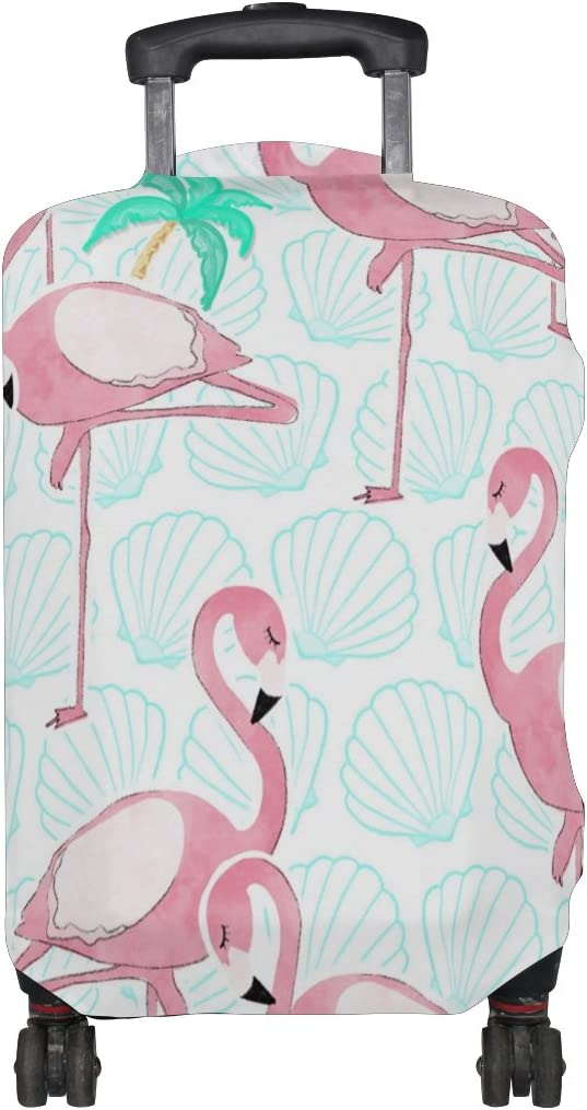 LEISISI Luggage Cover Flamingo Protector Cover Elastic Suitcase Cover XL 31-32 in
