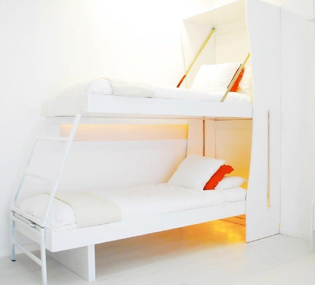 Letto A Castello Richiudibile.Night Day New Armadio Bed Letto A Castello A Scomparsa Amazon It