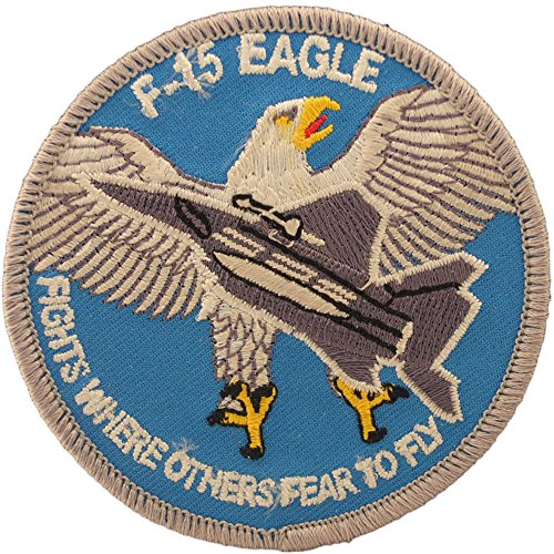 """U.S. Air Force F-15 Eagle Patch Blue & White 3"""" for sale  Delivered anywhere in USA"""