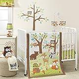 Bedtime Originals Friendly Forest Woodland, Juego de cama de 3 piezas, Verde / Marrón