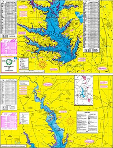 Topographical Fishing Map of Lake Conroe With GPS Hotspots