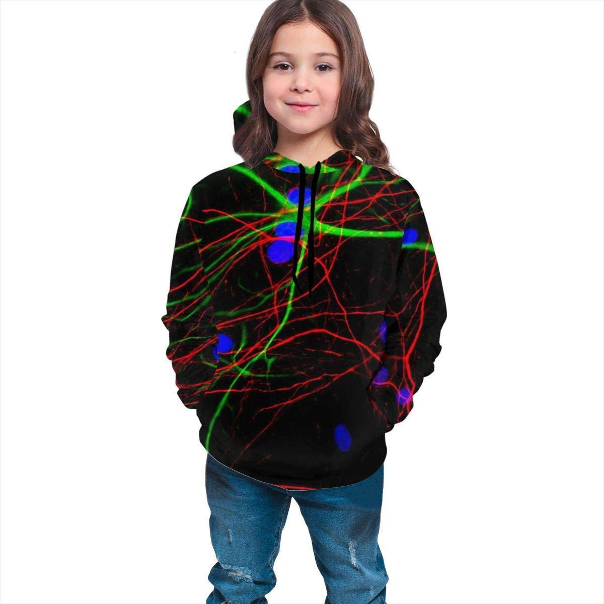 Lichenran Funny Neurofilament Unisex Pullover Teens Hoodie Hooded Sweatshirt Colorful