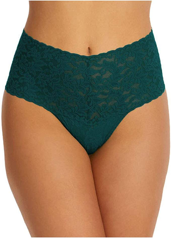 0-12 Details about  /hanky panky One Size Signature Lace Retro Thong