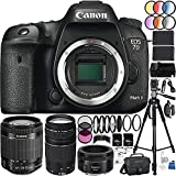 Canon EOS 7D Mark II DSLR Camera 39PC Kit - International Version (No Warranty) w/Canon EF-S 18-55mm f/3.5-5.6 IS STM Lens, Canon EF 75-300mm f/4-5.6 III Lens, Canon EF 50mm f/1.8 STM Lens, MORE