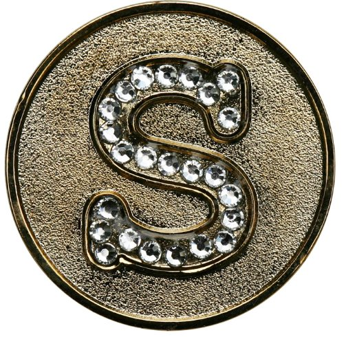 Swarovski Initial S Golf Ball Marker with Matching Hat Clip