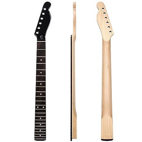 Kmise brillante cabeza eléctrica GUITA cuello para Fender TL partes de repuesto perno en el ca