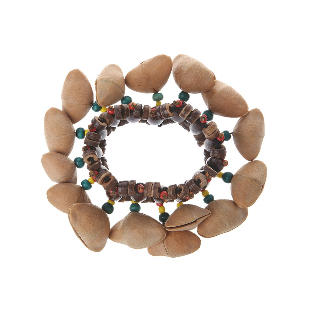 ULKEME Handmade Nuts Shell Bracelet Handbell For African Drum Conga Accessories