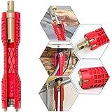 Handfatsnyckel, VVS-verktyg, (8-i-1) kökskran och handfatsinstallatör, multifunktionellt kranskiftnyckel, verktyg med…