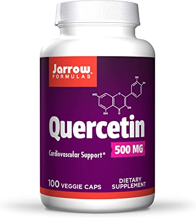 Jarrow Formulas Quercetin 500 mg - 100 Veggie Caps - Supports Antioxidant Status, Cardiovascular Health & Immune Health - 100 Servings