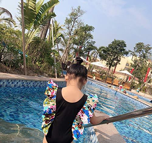 Baby Girls One Piece Swimsuit Swimwear UPF 50 Sun Protection Toddler Kid Ruffled Bathing Suit Rash Guard 2-7t