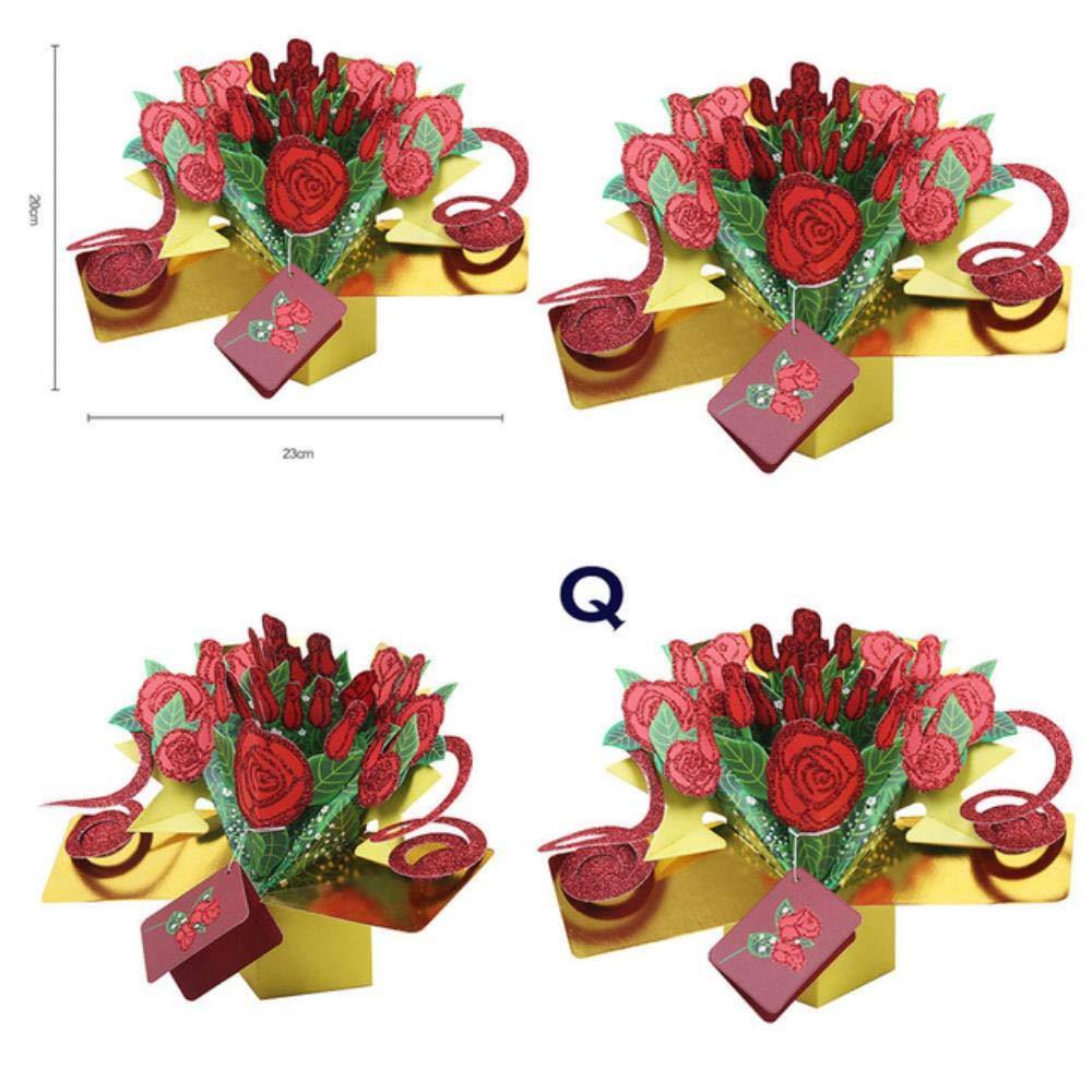 YAOJII Tarjeta de felicitación emergente 3D Invitaciones de ...