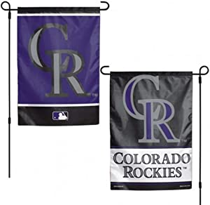 MLB Colorado Rockies Flag12x18 Garden Style 2 Sided Flag, Team Colors, One Size