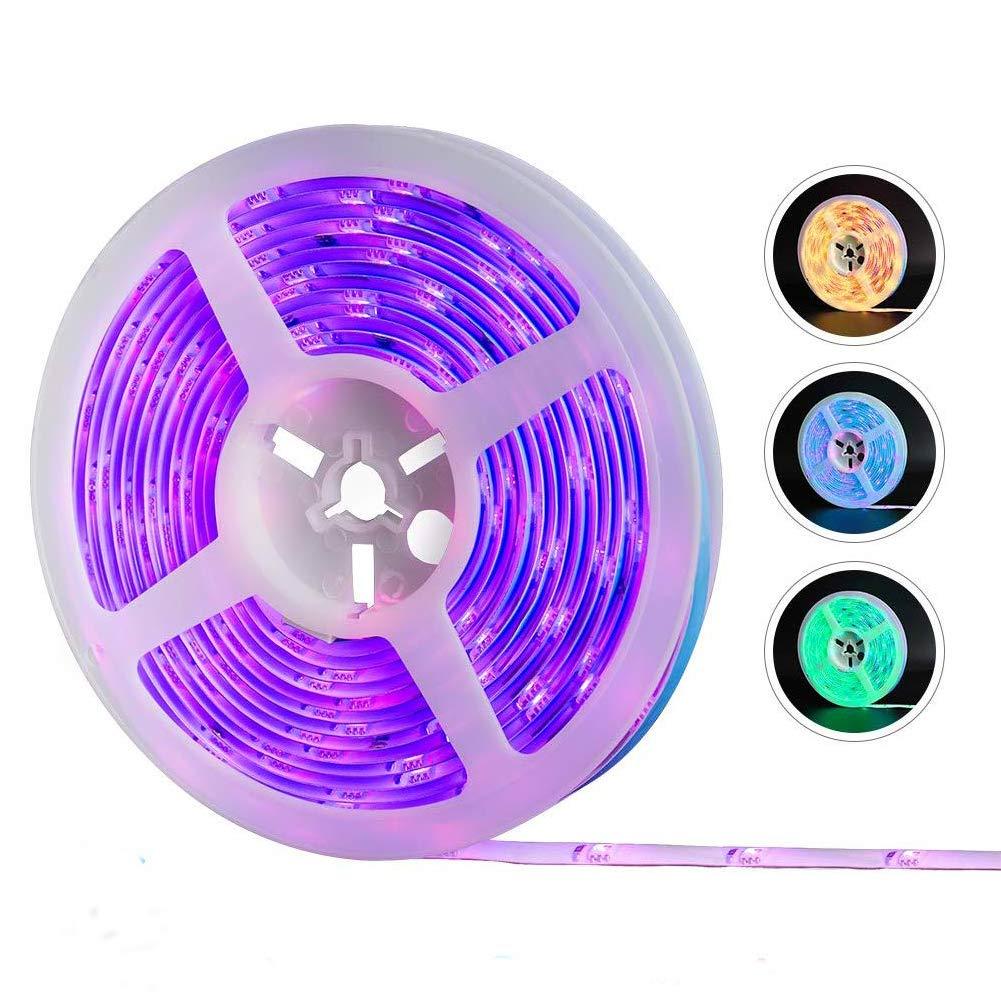 Striscia LED, REAFOO Striscia LED WiFi RGB Impermeabile 5m