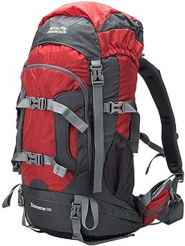 ROYAL MOUNTAIN Mochila de 50 L para Deportes al Aire Libre, Senderismo, Camping, Escalada, Mochila Impermeable de Pesca