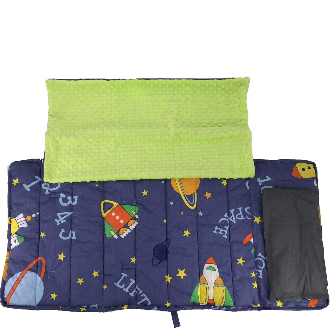 Tiuik Nap Mat with Built in Blanket and Pillowcase, Pillow Insert Included, Perfect for Daycare and Preschool or Napping On-The-Go