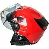 Kart Trade Aeroh Unisex Urban Half Face Helmet, Medium (Red)
