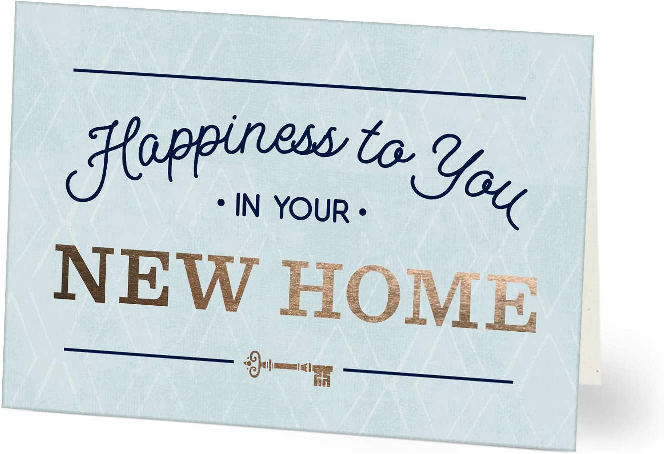 Hallmark Business Congrats New Home Cards for Realtors, Real Estate Agents, Insurance Agents, and Bankers (Happiness to You) (Pack of 25 Greeting Cards)